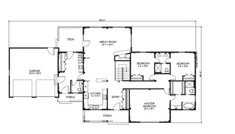 ranch style floor plans open open floor plan ranch style house