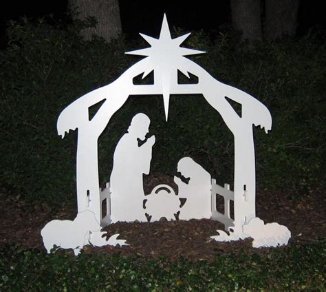 Nativity Outdoor Decorations by Lifetime Outdoor Nativity Marine Grade White Pvc Silhouette