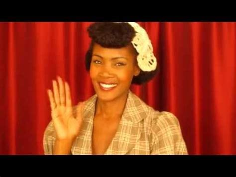 black women pin up hairstyles from atlanta 1940s pin up inspired hairstyle with faux bangs for kinky