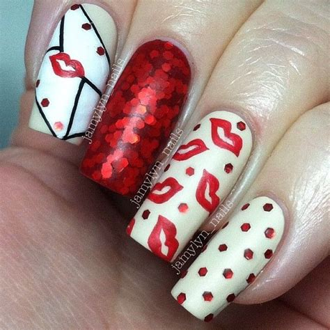 valentine day  romantic nail art designs   trends