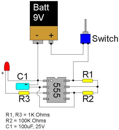 projects  max blinking leds   timer