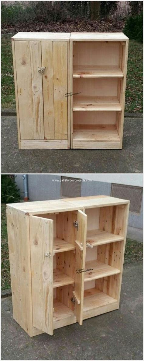 wooden storage cabinet plans inspire your guests with awesome wood pallet creations