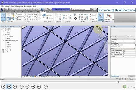 tutorial revit 2016 create triangular revit curtain panel with gap joints rv