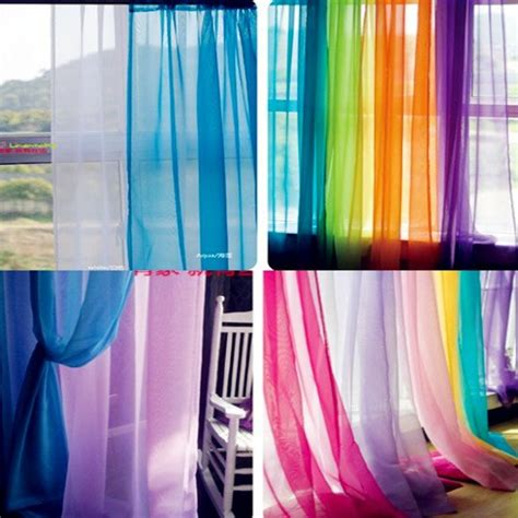 colorful sheer curtains hot wholesale 140cm 250cm europe voile curtain design