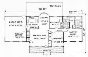House Plans 1 Story by Great One Story 7645 3 Bedrooms And 2 5 Baths The
