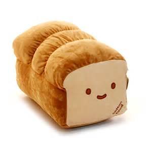 kawaii japanese anime doll throw pillow loaf bread