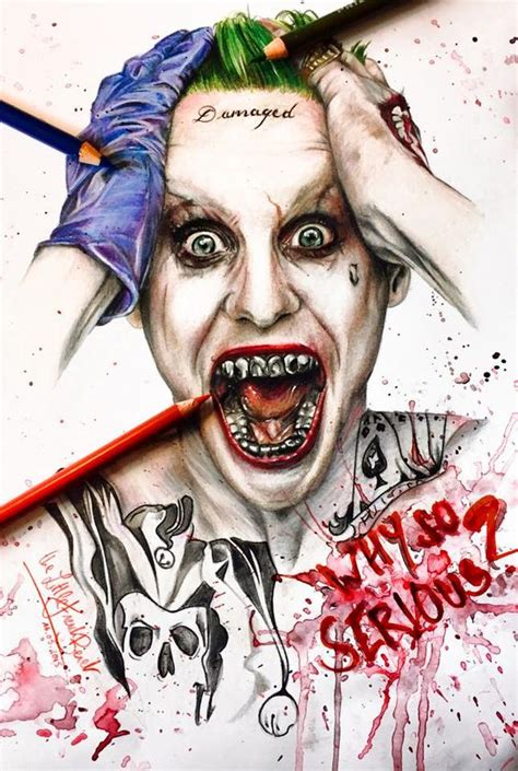 jared leto joker tattoo transfers jared leto joker by thefrenchberet drawing pinterest