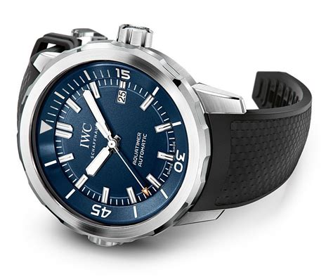 iwc aquatimer watches in three new designs for 2016