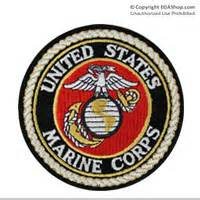 Rubber Patch Cameroon Marine lapel pin united states marine corps