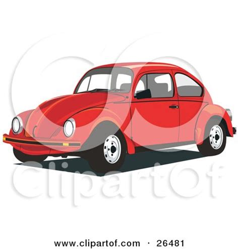 volkswagen beetle clipart clipart illustration of a white volkswagen bug car in