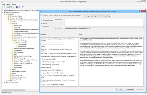 remote desktop firewall remotedesktop in windows 7 8 x und server 2012 r2 mit