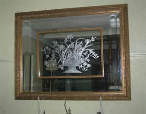 3 dimensional etched mirror in metallic silver finish
