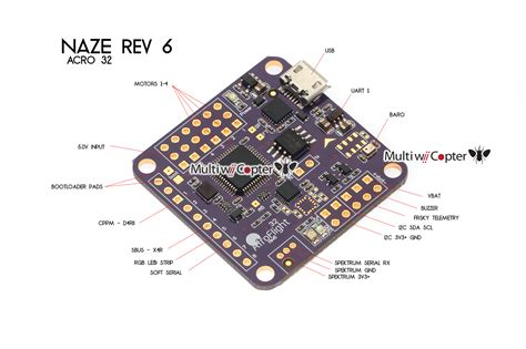 original naze 32 acro afroflight japan rev 6 purple flight controller au