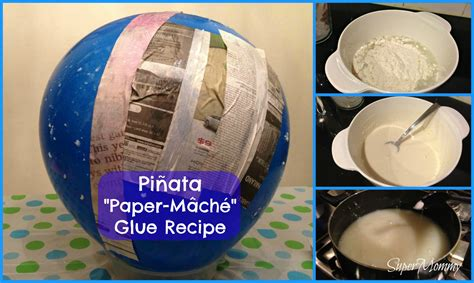 How 2 Make Paper Mache - paper mache glue paste to make your diy pinata