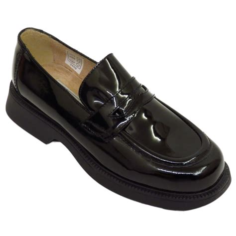 black patent loafers womens black patent leather loafers slip on flat brogues