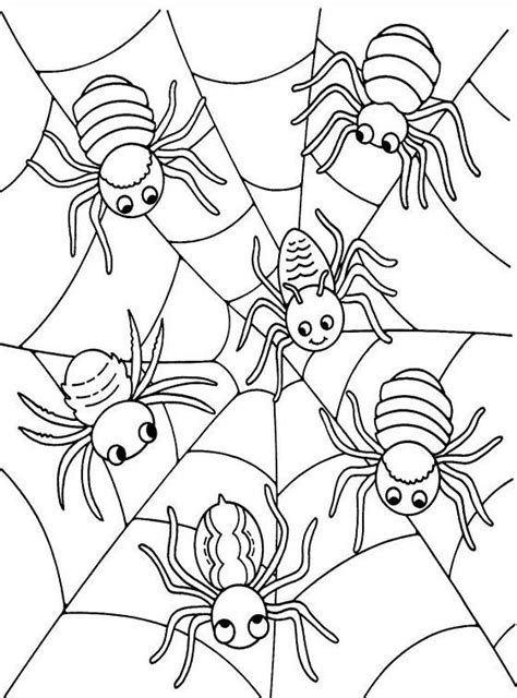 halloween coloring pages spider web halloween spider web coloring pages