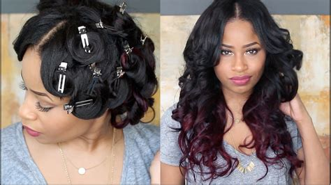 how to pincurl short african american how to pin curl that hair youtube