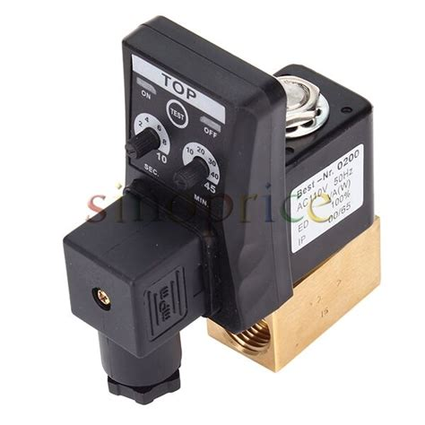 ac 110v 1 2 quot electronic timed air compressor automatic 2 way drain valve ebay
