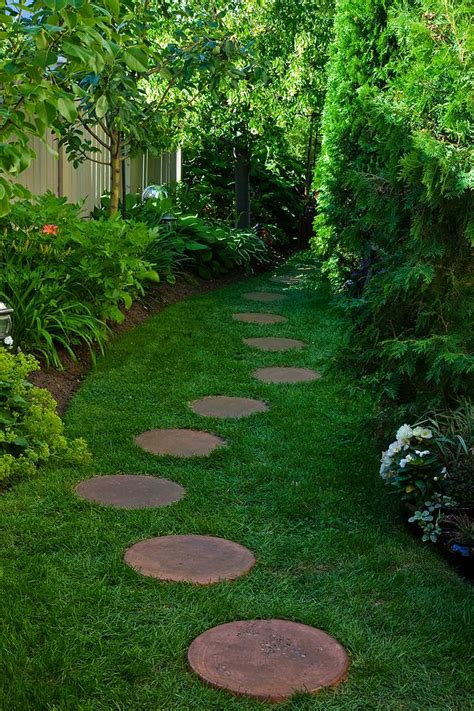 backyard pathways stepping stone paths on pinterest stepping stone