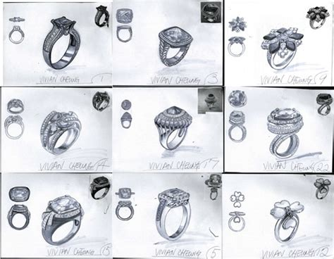 sketchbook pro jewelry sketch practices of watches jewelry and accessories on