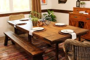 farmhouse dining table diy decorating ideas kitchen plans best house design