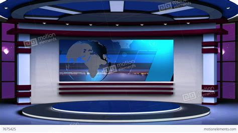 news tv news tv studio set 63 green screen background loop