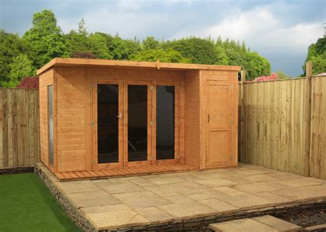 shedswarehouse oxford 12ft x 8ft contempory gardenroom large combi 12mm t g floor
