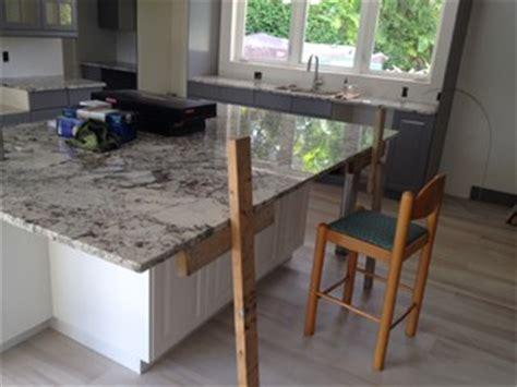 Maximum Overhang For Granite Countertop by Granite Island Countertop Overhang Help