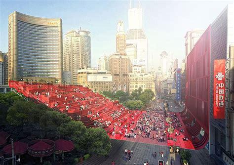 designboom china red carpet by 100architects glides through shanghai china