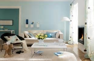 light blue room color interior decorating with sky blue color for spacious look
