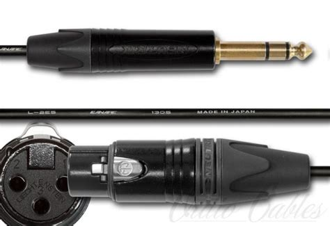 trs like us trs to xlr cable black gold custom made cables