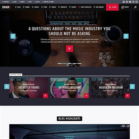 podcast website template 10 of the best podcast themes templates 2018