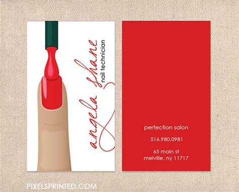 business card templates for nail salon nail salon business cards nail technician business cards