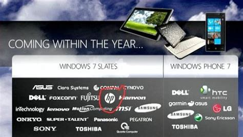 Hp Lg Windows Phone lg htc samsung and dell will ship windows phone 7 phones this fall hp no longer a partner