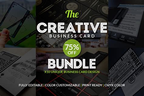 10 Creative Business Card Templates by 10 Creative Business Card Bundle Business Card Templates