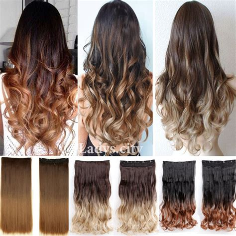 how longs does an ombre color last aliexpress com buy new ombre hair clip in hair