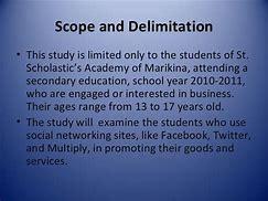 Image result for importance of scope and delimitation in thesis