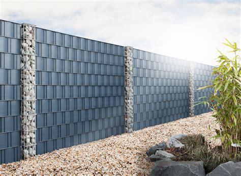 terrasse mit holz 1461 gabionen s 228 ulen aus eigener fertigung hms betonz 228 une