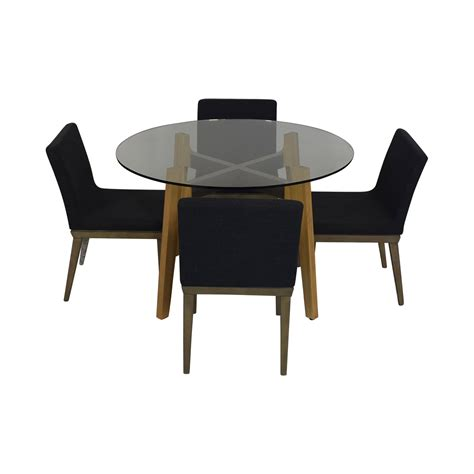 cb cb glass dining room table   chairs