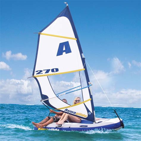 board boat sailboat the inflatable windsurfer and sailboat hammacher schlemmer