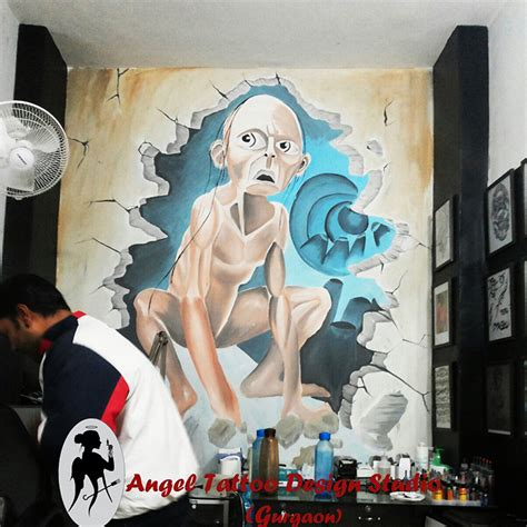 angel tattoo design studio gurgaon haryana wall paintings graffiti and and wall tattoos in gurgaon
