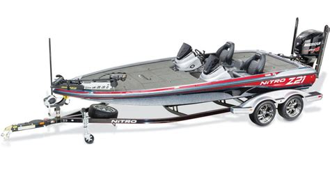 bass pro boat handles the nitro z21 comes standard with a tandem axle trailer