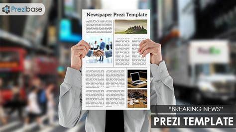 Breaking News Prezi Template Prezibase Prezi Newspaper Template