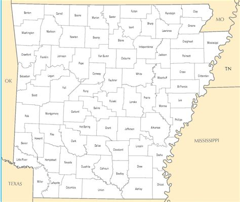 County Search Arkansas County Map Images