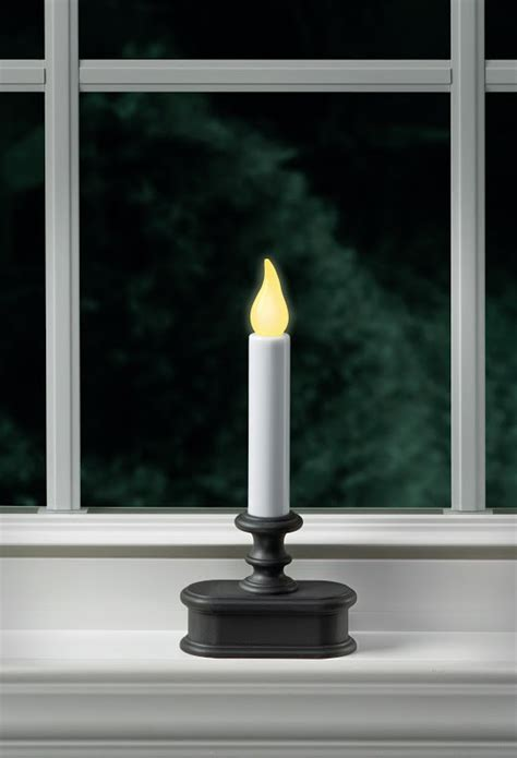 battery powered window candle aged bronze flicker mode