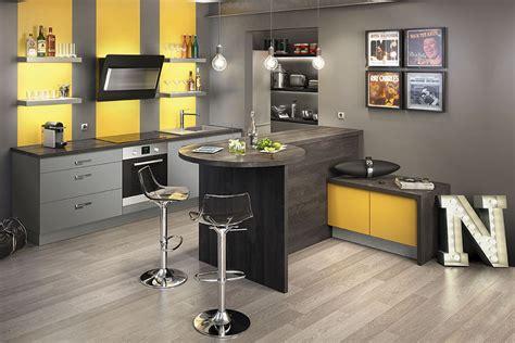 cuisine proven軋le jaune d 233 co cuisine jaune et gris