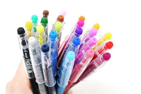 erasable colored pens frixion ballpoint pen 0 7 mm 24 color set kawaii colors