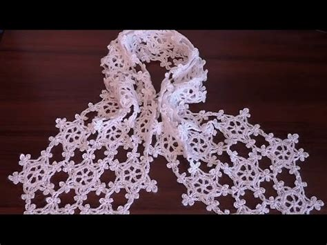 crochet snowflake pattern youtube how to crochet scarf very easy snowflake motif step by