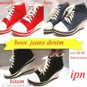 Sepatu Mr Denim sepatu boot denim adeyasa store