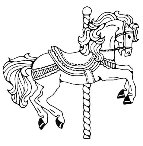 carousel horse drawing simple car pictures car canyon